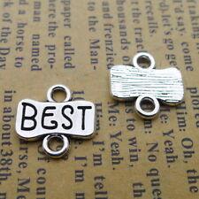 15Pcs Antiqued Silver Tone Hope Words Charms Pendants Connectors 5.5x25.5mm