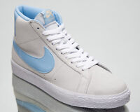 Nike SB Zoom Blazer Mid Men's Grey Blue Athletic Casual Lifestyle Sneakers Shoes
