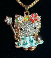 Betsey Johnson Blue Hello Kitty Fairy Wand Pendant Necklace US Seller