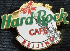Hard Rock Cafe BEIJING 1996 Christmas PIN White HRC Logo Sax XMAS - HRC #1128