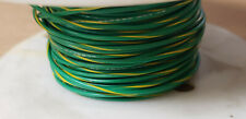 GREEN / YELLOW WIRE 22AWG, 300V (25FT)