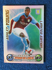 Topps Match Attax Card - Ashley Young - Aston Villa - Limited Edition - 2008/09