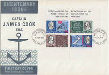 1969 New Zealand Captain James Cook M/S FDC (SG MS910)