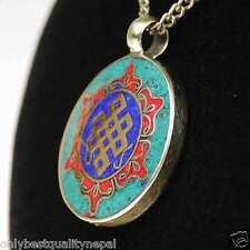Amulett  Buddha farbiger Anhänger Schmuck aus Asien Gedankenknoten Talisman a73