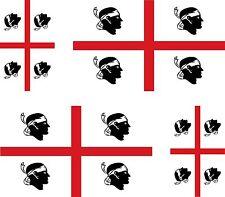 4x sticker Adesivo Adesivi decal sardinia Vinyl auto moto bandiera sardegna