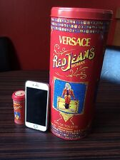 Gianni Versace Jeans Empty Perfume Tin Giant & Miniature Red L1