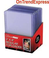 25 x Ultra Pro CLEAR TOPLOADER 3x4 Regular Card Rigid Protector 35pt TOP LOADERS