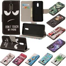 For Nokia 3 5 6 8 Luxury Pattern Flip Leather Slim Wallet Magnetic Case Cover