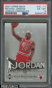 2007 Upper Deck Jordan Chronicles Michael Jordan Chicago Bulls HOF PSA 6 EX-MT