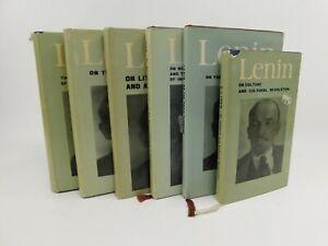 V.I. Lenin Selected Works 1960s-70s Moscow Progress Publishers DC HB VTG Books