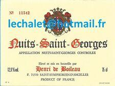 Authentique étiquette de Nuits saint Georges