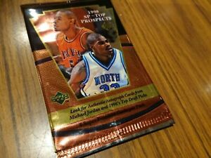 1998 Upper Deck SP Top Prospect pack sealed - chase possible Michael Jordan auto
