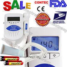us ship CONTEC Fetal Doppler Fetal Baby Heart Rate Monitor Pregnant Pregnacy,GEL
