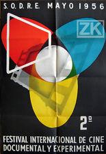 FESTIVAL CINEMA EXPERIMENTAL DOCUMENTAIRE Film SODRE Uruguay MUNIZ Affiche 1956