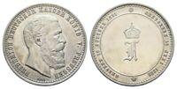 Preußen Medaille Silberlegierung 1888 FRIEDRICH III. (1831-1888) Tod 15.6.1888