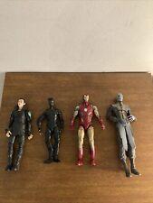 Lot of 4 Loose Marvel Legends Figures Loki Stealth Spider-man Iron Man Ebony Maw