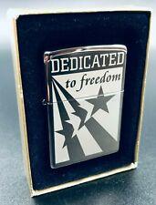 Zippo 2003 Dedicated To Freedom Lighter - Still Sealed - (Very Rare)