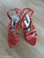 ZARA sandals heels, size 6 (EUR 39 USA8), pink, leather, brand new