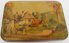 Vintage Harry Vincent Ltd Blue Bird Toffee Tin England Horse Shoeing & Village