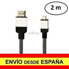 Cable HDMI Macho a MICRO HDMI Macho Alta Velocidad V2.0 7mm 2 Metros a3032
