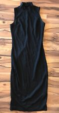 Who What Wear Women's Black Tight Stretch Dress Sz Extra Small XS Sleeveless WWW