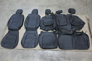 OEM Factory Take Off Leather Seat Covers 19-21 Chevy Silverado 1500 CREW CAB