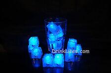 12 Pack LiteCubes Brand BLUE LED Light up Ice Cubes