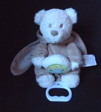 Nicotoy Tan Teddy Bear Plush Musical Crib Baby Toy Belgium Bunny Pjs