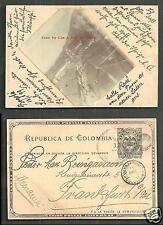 Bogota HANDMADE rppc Calle Real Colombia stamp 1899
