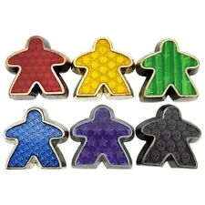 DELUXE METAL MEEPLES - COLLECTOR 6-PACK  board game worker token Campaign Coins