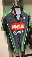 Terry McMillen AMALIE Motor Oil team shirt.
