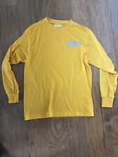 Usna Naval Accademy Navy Long Sleeve Shirt Vtg Yellow Blue Usa Goat M Official