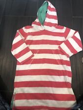 Mini Boden Terry Size 6/7 Beach Girl Cover Pink Striped