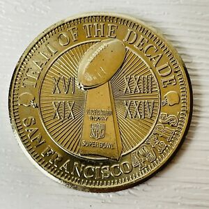 San Francisco 49ers Team Of The Decade Coin For Then And Now Collection Album