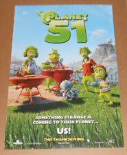 Planet 51 Movie Poster 2-Sided 2009 Original 27x40
