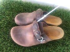 Womens Dana Papillio By Birkenstock Dark Brown Wedge Sandals Sz 5/5.5 Or  36