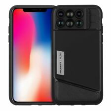 MOMAX X-Lens Case 6 in 1 Dual Optics Lens Kit 120° Wide-angle for iPhone X