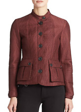 BURBERRY BRIT QUILTED STAND COLLAR JACKET DEEP BURGUNDY NWT $695.00 SZ XL US