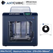 Anycubic Upgraded 4Max Pro 2.0 3D Drucker Große Druckgröße Resume Druck+500g PLA