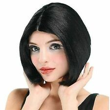 Black Ladies Centre Parting Short Bob Wig China Doll Posh Spice Fancy Dress