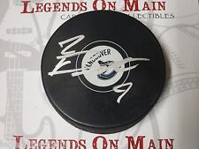 Brandon Prust Vancouver Canucks Signed Logo Puck With LOM COA
