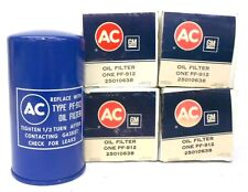 "GM AC OIL FILTER TYPE: PF-912, 25010638, APPROX 7"" HEIGHT, 3 3/4"" DIAMETER QTY 4"