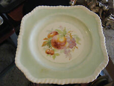 "Vintage Johnson Bros. Old English 7 3/4"" Square Fruit Decorated Plate"