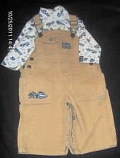 BOYS CORDUROY OVERALLS WITH ONE Piece SIZE 6-9 MONTHS