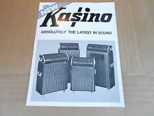VINTAGE AD SHEET #2135 - KUSTOM KASINO GUITAR AMPLIFIERS