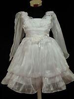 Robe blanche neuve demoiselle d'honneur de mariage 2-3 à 5-6 Ans