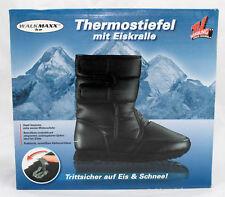 WALKMAXX Ice Thermostiefel Eiskralle Schwarz Winterschuhe Klettverschluss Gr. 38