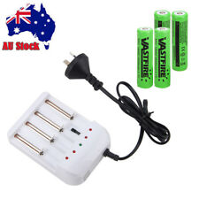 Universal 4X 18650 3.7V Li-ion 2400mAh Rechargeable Battery+i4 Charger For Torch