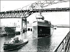 Photo: The SS Edmund Fitzgerald Under The Blatnik Bridge, Saint Louis Bay, 1960