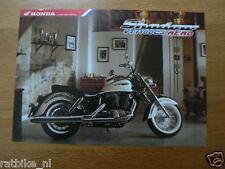 H070 HONDA  BROCHURE PROSPEKT  SHADOW VT1100C3 AERO ENGLISH,GERMAN,FRENC 2 PAGES